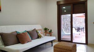 puerta de acceso a terraza suite jara